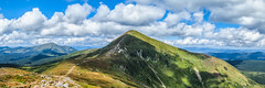 Gorgeous Hoverla (Alex Demich) Tags: mountains mountain carpathians carpathian ukraine hoverla ridge trail road stones sky clouds cloudy cloudsstormssunsetssunrises hiking climbing tourism outdoor slope slopes hills rocks summer summit top green grass blue white horizon panorama landscape nature wilderness