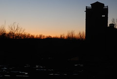 Plastoids (MetalMooseBoy) Tags: sunset tower abandoned industry broken glass silhouette architecture night rural newjersey twilight decay brokenglass vacant destroyed ruraldecay plastoids