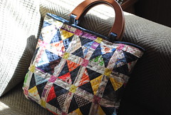 Patchwork handbag (quarter inch mark/ Chase) Tags: handmade patchwork hangbag