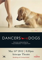 Dancers Love Dogs (VeryViVi) Tags: dog art love beauty goldenretriever poster foot golden dance performance retriever delight bark vivi fundraiser publication generosity vivilicious missvivigold veryvivi dancerslovedogsballet artscapetheatredogs