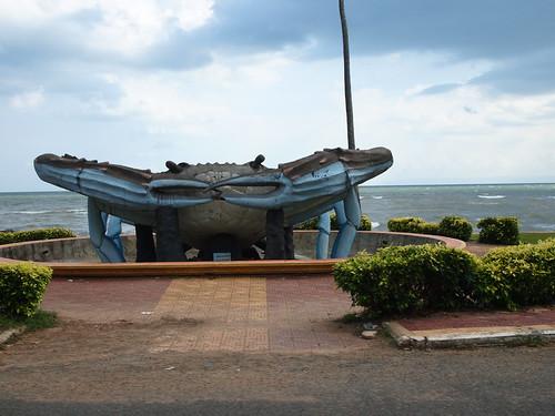Crab Statue at Kep