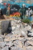 Graffiti and rubble by Aida refugee camp