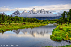 As Skies Clear (James Neeley) Tags: landscape tetons hdr f12 grandtetonnationalpark gtnp schwabacherslanding 5xp jamesneeley