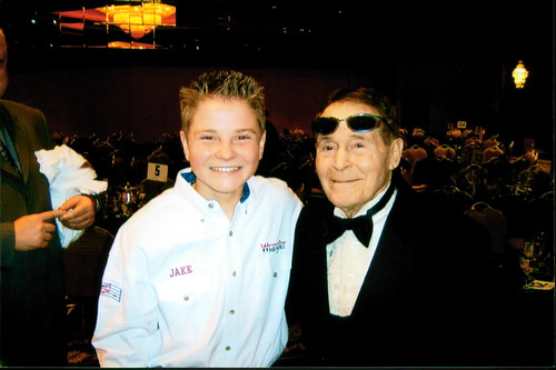 Jacob Nelson and Jack LaLane at the Universal Sheraton LAPD Historical Society Gala