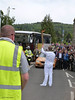 Torch bearer arriving at North Inch (P&KC Archive) Tags: sport fun photography scotland community perthshire streetscene celebration 20thcentury relay olympicflame torchrelay localhistory olympictorch torchbearers historicevent civicpride perthandkinross ecsochistory recordinghistory