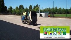 Rubberised SBR crumb granules artificial surface shock pad contractors.jpg; (Soft Surfaces Ltd) Tags: pad artificial surface shock crumb granules contractors sbr rubberised rubberisedsbrcrumbgranulesartificialsurfaceshockpadcontractorsjpg