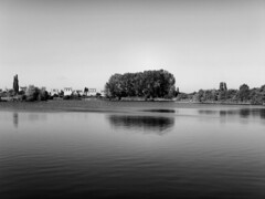 a certain softness (And Soon the Darkness) Tags: blackandwhite bw lake reflection tree nature water monochrome reserve peterborough eyegreen mygearandme