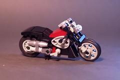 Cafe Racer One (lego911) Tags: auto street bike one cafe model lego motorbike chrome motorcycle challenge racer lugnuts moc 55th miniland foitsop lego911