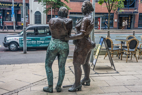 Belfast - Monument to the Unknown Worker By Louise Walsh (Great Victoria Street)