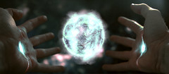 The Creation Technique (AndyLincolnEstonia) Tags: lighting blue white blur ball palms cool holding hands energy god teal space magenta highlights creation galaxy worlds imagination creator universe technique creating
