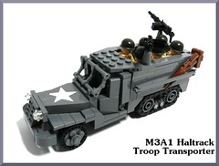 M3A1 Halftrack Troop Transporter (LegoIiner PiIot) Tags: building dark fun is bucket call lego d duty nazi wwii free troopers arf clones legos be hi cody waterslide zombies clone cod hai swag productions lots waw commander produced lessons callofduty yolo legoboy belkan goint legohaulic