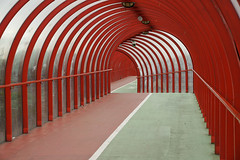 tunnel vision (Spencer Bowman) Tags: bridge architecture scotland glasgow tunnel walkway secc za cz1680 sonya450 variosonnart35451680