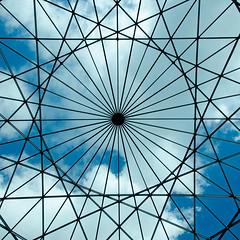 Square geometry (Gilles 1972) Tags: roof cloud lines amsterdam geometry curves 2012 dak cirkel wolk ster scheepvaartmuseum geometrie voc goudeneeuw