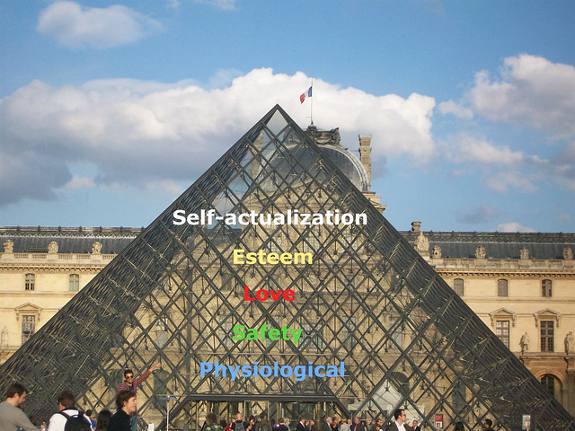 Louvre Pyramid - Maslow's Hierarchy of Needs, From FlickrPhotos