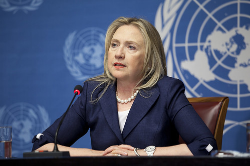 Secretary Clinton Speaks With Press Following Action Group for Syria Meeting