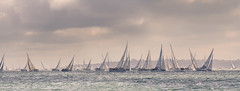 Round the Island Race 2012 - Telephoto Panorama from Yarmouth Pier (s0ulsurfing) Tags: summer panorama june boats island coast boat sailing yacht horizon sails sigma telephoto isleofwight boating sail yachts yarmouth fleet isle wight 2012 yachting flotilla westwight 50500mm roundtheisland s0ulsurfing rtir coastuk jpmorganassetmanagementroundtheislandrace roundtheislandyachtrace welcomeuk roundtheislandrace2012
