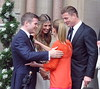 Gordon D'Arcy, Aoife Cogan, Brian O'Driscoll and Amy Huberman The wedding of model Aoife Cogan and rugby star Gordon D'Arcy, held at St. Macartan's Cathedral Monaghan, Ireland
