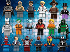 Next Year's DC & Marvel Characters! (MGF Customs/Reviews) Tags: robin dark dc comic lego nick spiderman gordon batman knight marvel bane con fury rises