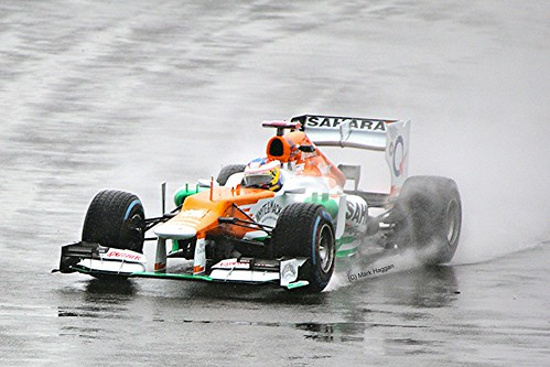 Paul Di Resta's Force India at Silverstone