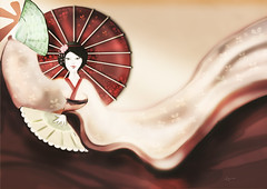 Japan.. (N Gabrich) Tags: japan painting digitalpainting geisha japonesa pintura bunkasai pinturadigital gueixa