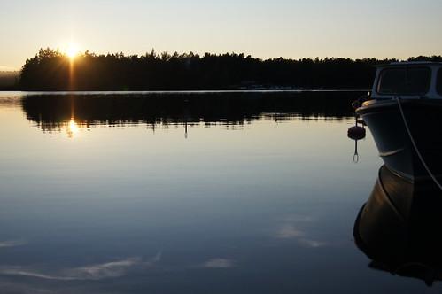 Ängelsberg solnedgång