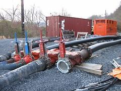 121311 Rail Trail Progress (6) (CityofMorgantown) Tags: west wall work virginia construction crane rail trail wv morgantown drill retaining pave caperton