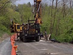 Rail Trail 040912 (4) (CityofMorgantown) Tags: west wall work virginia construction crane rail trail wv morgantown drill retaining pave caperton