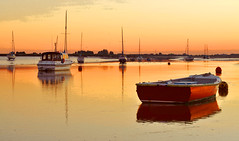 Day # 205. Tranquility (Harleycy3) Tags: sunset boats tranquility essex rowingboat twotreeisland essexboatingscene