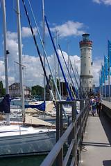 Lindau's lighthouse (armxesde) Tags: lighthouse lake germany bayern deutschland bavaria pentax lindau bodensee constance k5 baviera