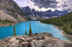 Holiday memories (2011): Moraine Lake (Fil.ippo) Tags: travel lake canada water landscape lago nikon alberta banff acqua viaggi filippo moraine waterscape d5000
