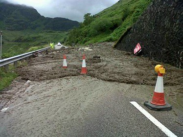 Latest A83 landslide