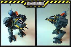 Super Owens (Combo shot) (SuperHardcoreDave) Tags: lego tech future scifi mechwarrior weapons mecha mech owens battletech moc battlemech omnimech