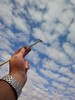painting the sky (alanpeacock2) Tags: blue sky white art clouds painting skyscape heaven paintbrush skypainting frommobileme