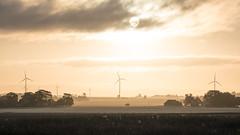 Open windscape (jarnasen) Tags: morning summer sky copyright sun backlight clouds sunrise nikon scenery sweden pov perspective windmills handheld fields sverige freehand landskap stergtland stgtasltten vindkraftverk d810 nordiclandscape tamronsp150600mm jarnasen jrnsen