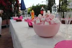 CENTRO DE MESA HECHO DE CERA + MALVAVISCOS (ilmiomondoincera) Tags: centro mesa cera malvaviscos jarron redondo rosa menta blanco corazon artesanal decoracion casa regalo bautismo fiesta