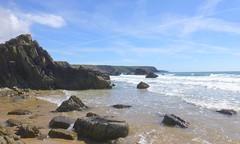 Marloes Sands, Penbrokeshire, Wales (east med wanderer) Tags: wales pembrokeshire marloessands sea hightide nationalpark pembrokeshirecoastnationalpark worldtrekker