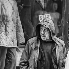 DSC_1723 hood up (irishman67) Tags: blackwhite streetphotography ennis coclare ireland