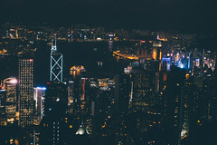 Closer look at my place (]vincent[) Tags: china hong kong vincent people peak victoria tram city sky night icc tower harbour bruce lee sony rx 100 mk iv selfie ifc bank neon clouds