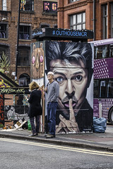 Google maps says Bowie is here somewhere (tootdood) Tags: canon70d manchester streetcandid candid stevensonsquare google maps bowie somewhere stree art outhousemcr