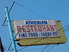 Athenian Restaurant, Cincinnati, OH (Robby Virus) Tags: cincinnati ohio athenian restaurant fine food carry out diner sign signage greek gyros