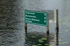 A Typical Canal Sign In Waterland, North Holland (elhawk) Tags: northholland waterland sign