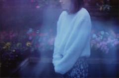 (merra marie) Tags: girl dreamy purple ghost 35mm film flowers flores sueo