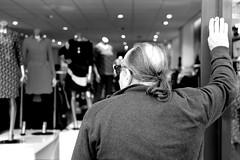 hardlife of a man.. (MarkVisser1990) Tags: man shopping hardlife smoking fuji xpro1 xf35mm f2 street photography bw markvisser alkmaar