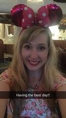 Disneyland Paris 2016 (Elysia in Wonderland) Tags: pink minnie mouse ears selfie