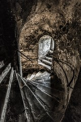 Going down (James Waghorn) Tags: sigma1020f456 castle summer dovercastle d7100 topazclarity dover kent shadows window stairs england
