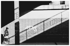 shadow. stairs. (HansEckart) Tags: stairs treppe schatten urban city town bw schwarzweis street streetfotographie shadow streetphotography people human geometrie