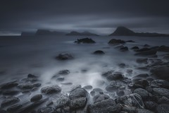 Colorless (Marco Battini) Tags: lofoten norway longexposure beach mountain rocks sea