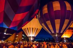 Glowing Balloons (djking) Tags: alberta canada heritageinninternationalballoonfestival highriver hotairballoons night