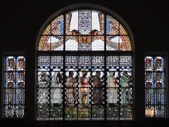 Otto-Wagner-Kirche (NoDurians) Tags: window glass church leadlight bleiglasfenster tiffany kolomanmoser ottowagner jugendstil secession vienna wien dieleiblichentugenden 1140 anstaltskirche