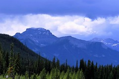 Blue and Green (Patricia Henschen) Tags: montane forest boreal mountain mountains clouds banffnationalpark alberta canada parks parcs nationalpark rockies canadian northern rockymountains